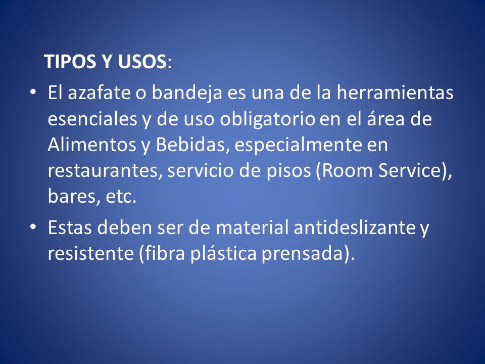 TIPOS Y USOS: