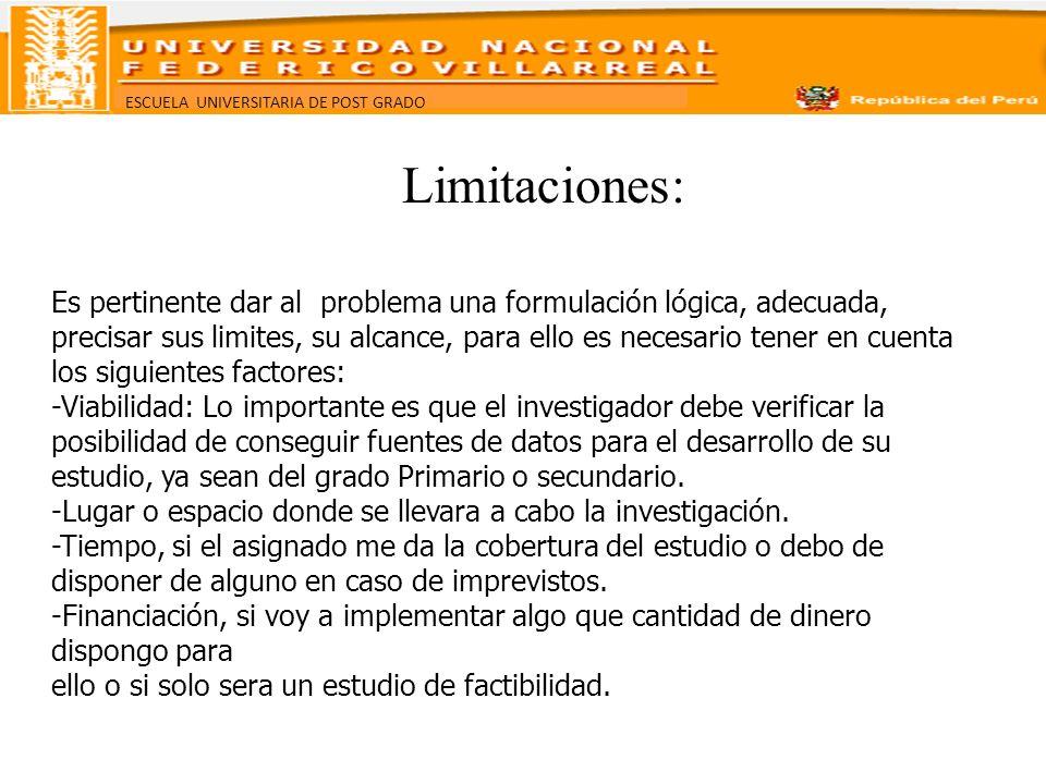 Limitaciones: