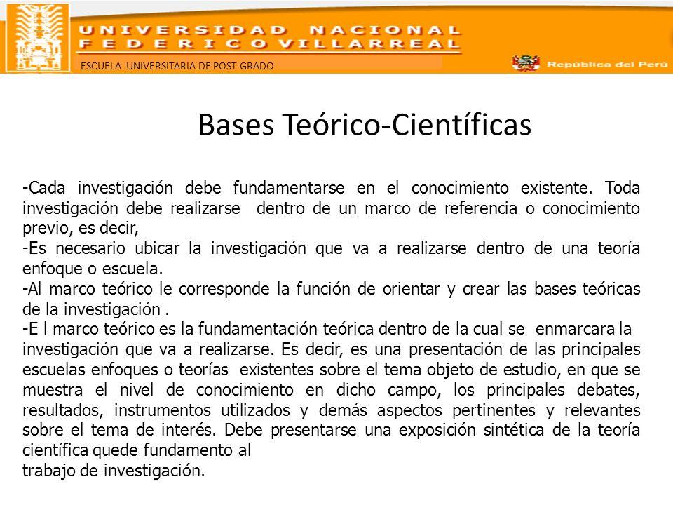 Bases Teórico-Científicas