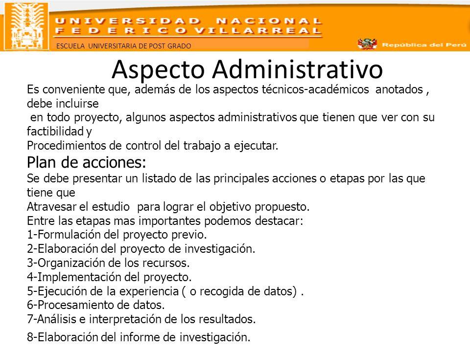 Aspecto Administrativo
