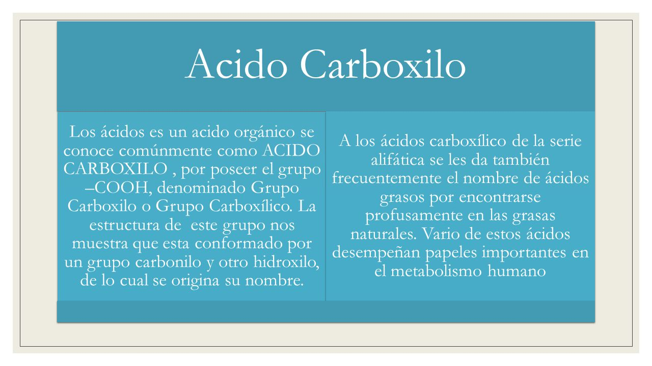Acido Carboxilo