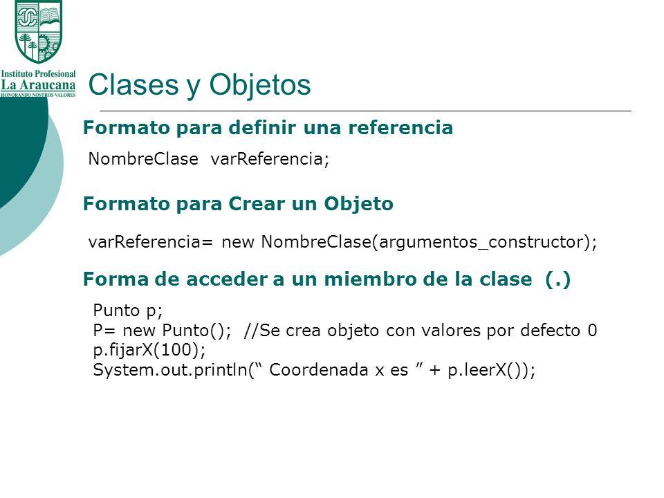 Clases y Objetos Formato para definir una referencia