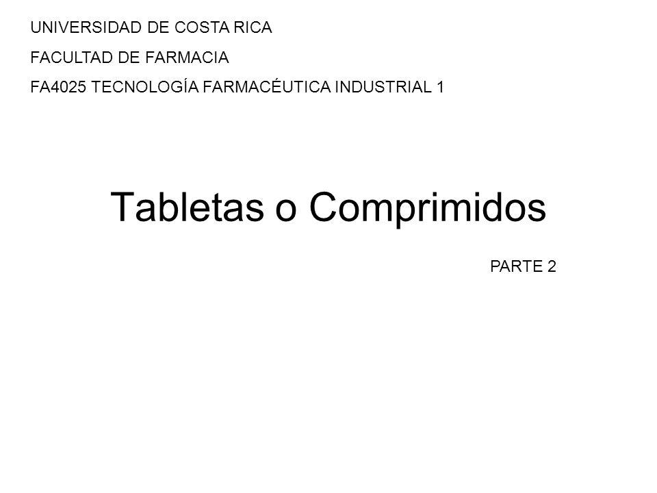 Tabletas o Comprimidos