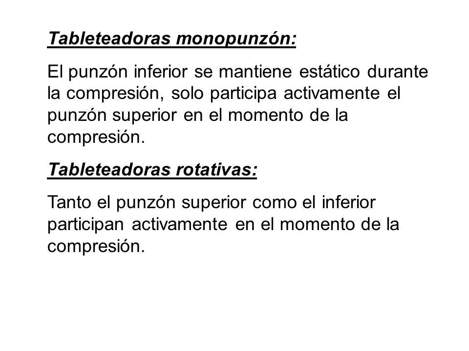 Tableteadoras monopunzón: