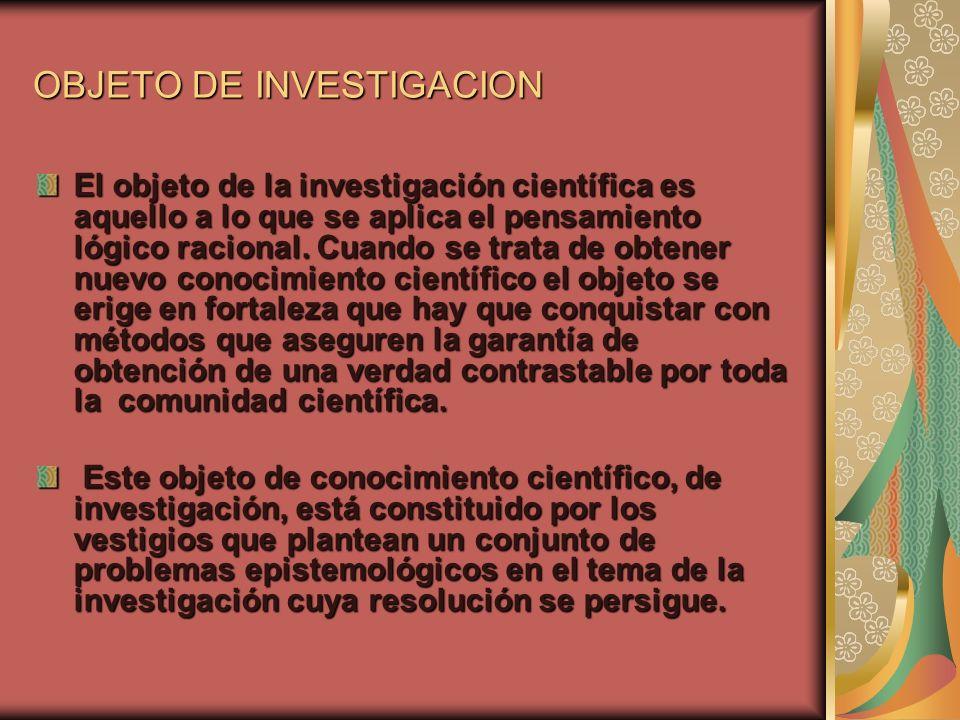 OBJETO DE INVESTIGACION