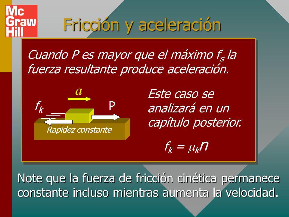Fricción y aceleración