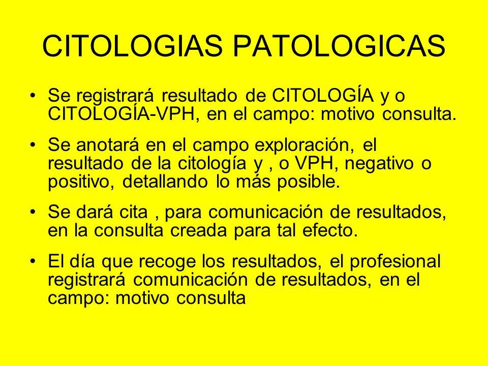 CITOLOGIAS PATOLOGICAS