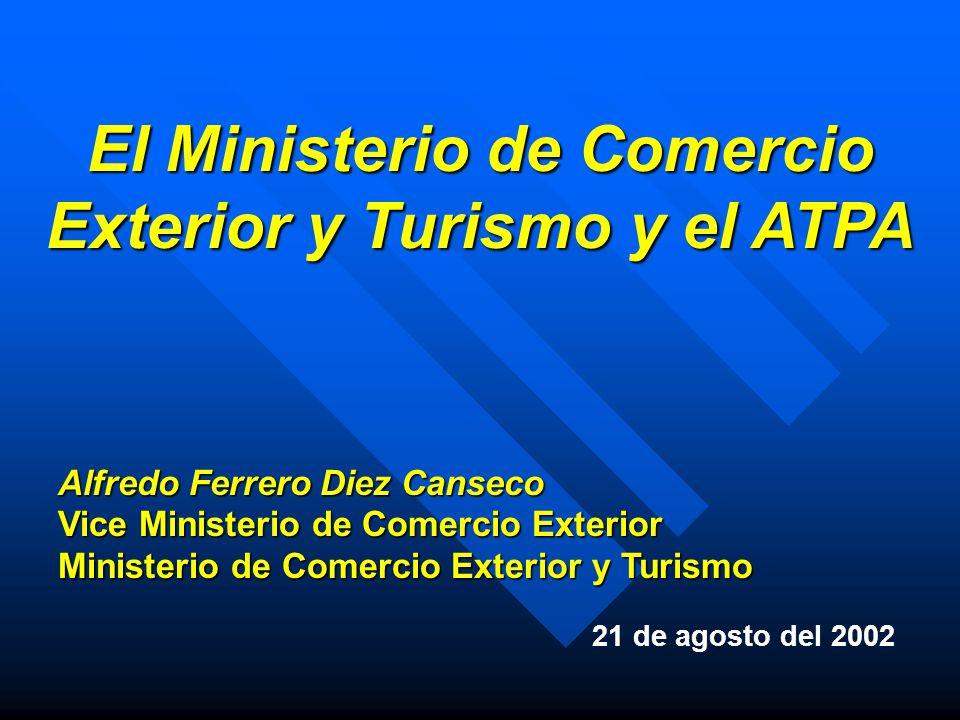 El ministerio de comercio exterior y turismo y el atpa for Ministerio del turismo