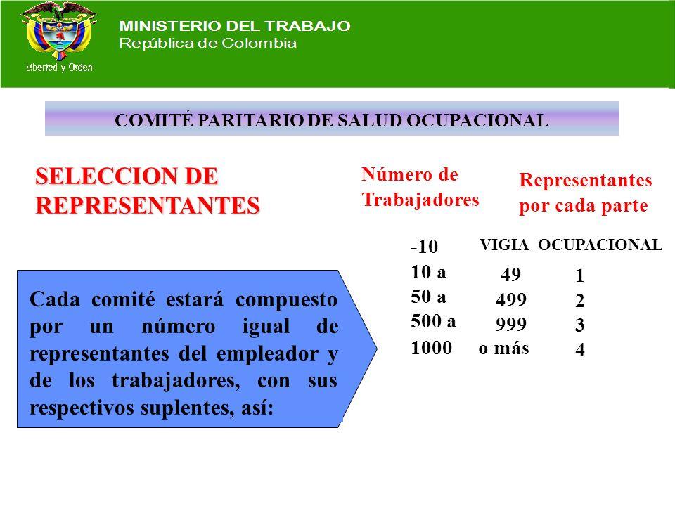 COMITÉ PARITARIO DE SALUD OCUPACIONAL