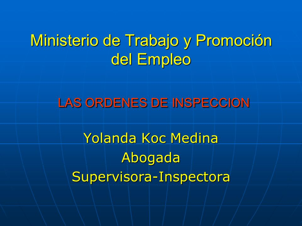 Ministerio de trabajo y promoci n del empleo las ordenes for Ministerio de trabajo