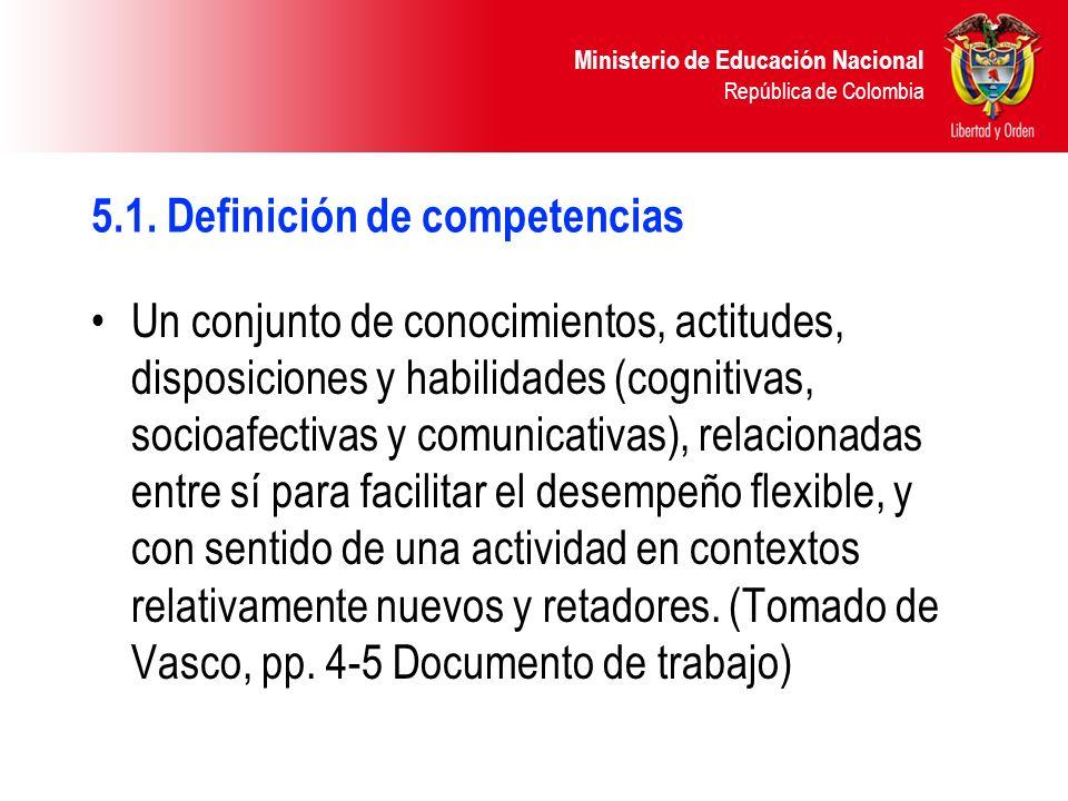 5.1. Definición de competencias