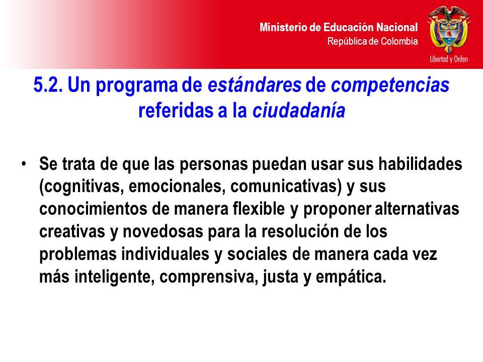 5.2. Un programa de estándares de competencias referidas a la ciudadanía
