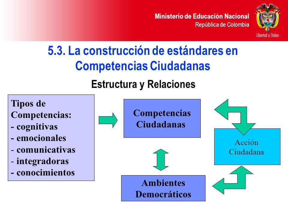 5.3. La construcción de estándares en Competencias Ciudadanas