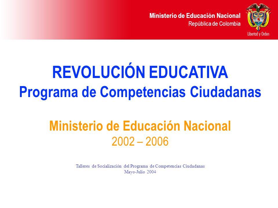Programa de Competencias Ciudadanas Ministerio de Educación Nacional