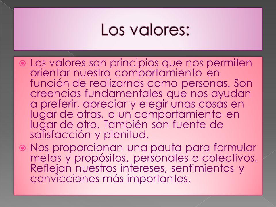 Los valores: