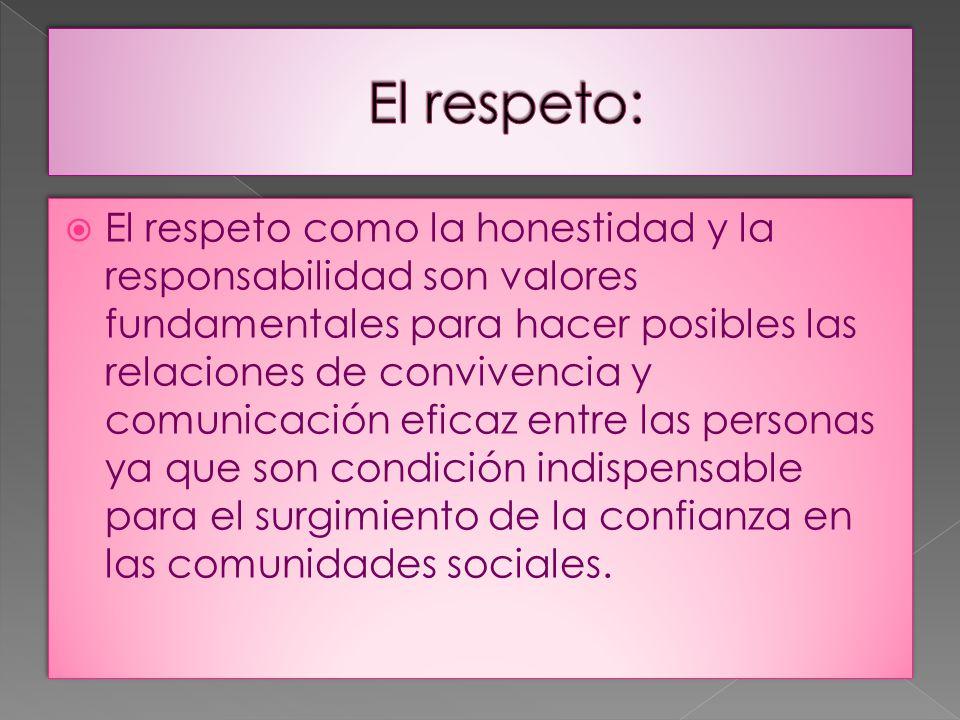 El respeto: