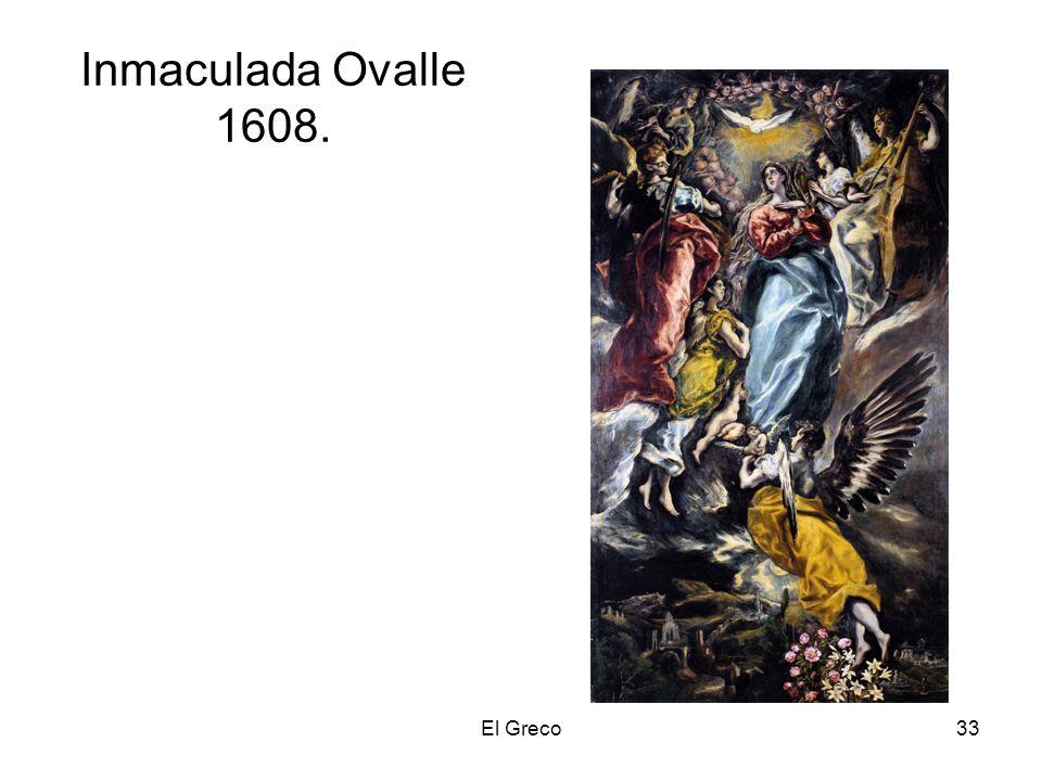 Inmaculada Ovalle 1608. El Greco
