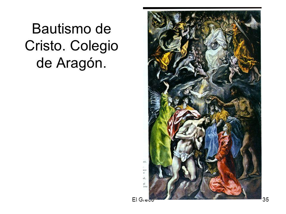 Bautismo de Cristo. Colegio de Aragón.