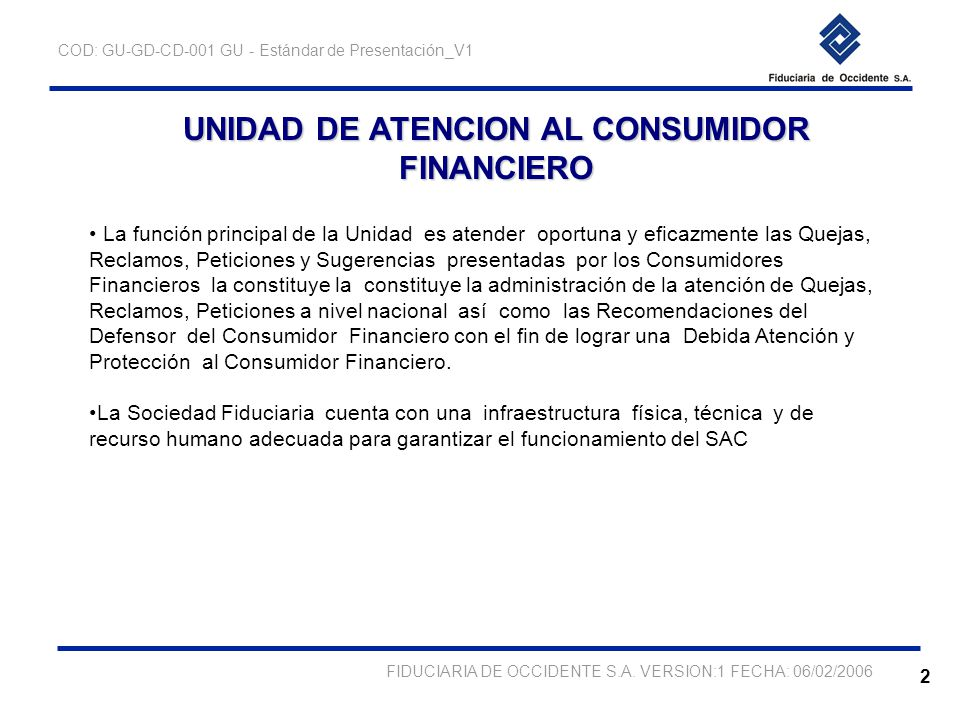 unidad de atencion al consumidor financiero ppt descargar