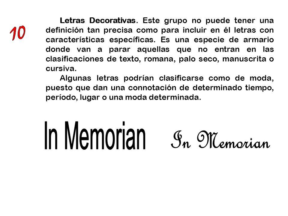 10 In Memorian In Memorian