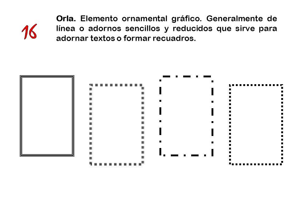 Orla. Elemento ornamental gráfico