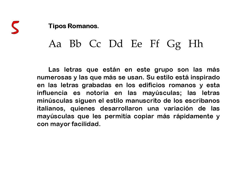5 Aa Bb Cc Dd Ee Ff Gg Hh Tipos Romanos.