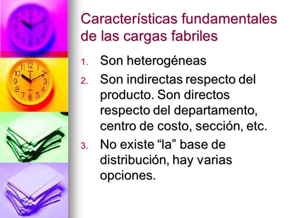 Características fundamentales de las cargas fabriles