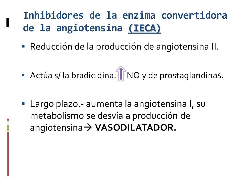 Inhibidores de la enzima convertidora de la angiotensina (IECA)