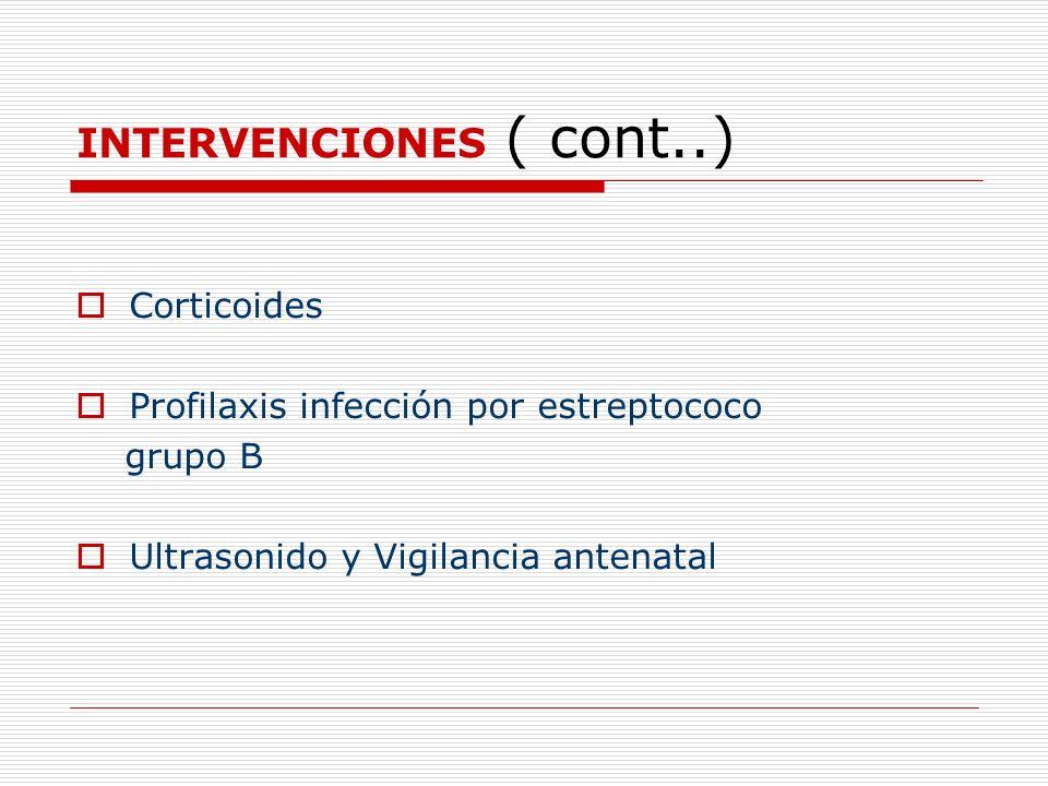 INTERVENCIONES ( cont..)