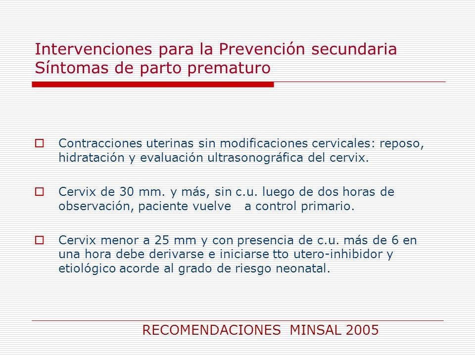 RECOMENDACIONES MINSAL 2005
