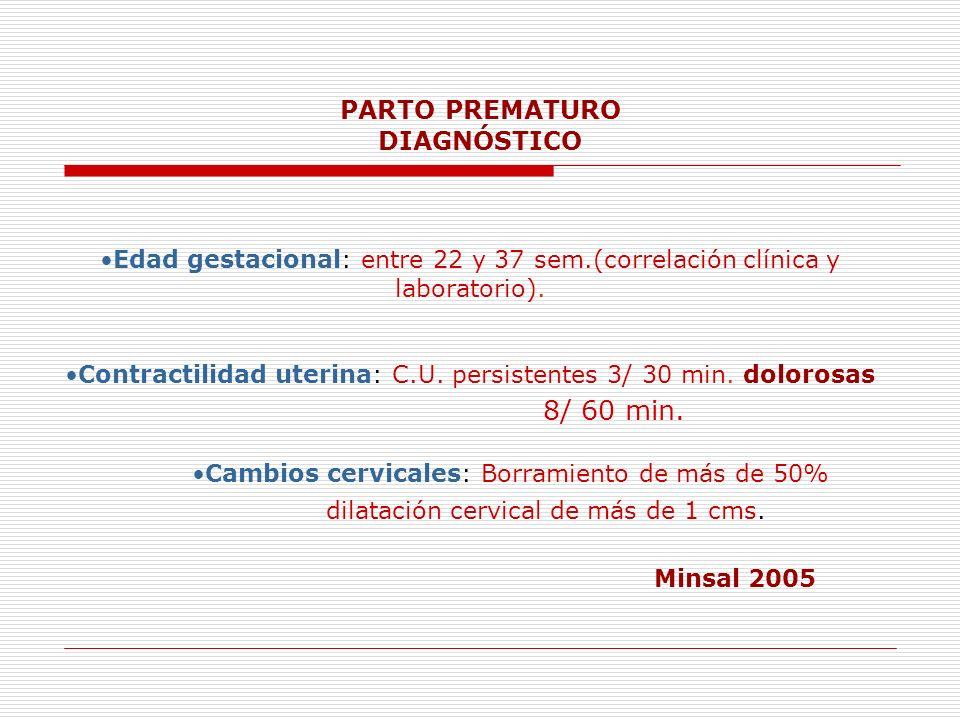 PARTO PREMATURO DIAGNÓSTICO