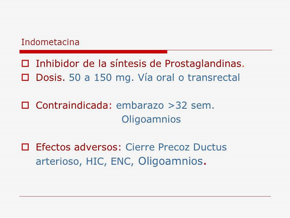Inhibidor de la síntesis de Prostaglandinas.