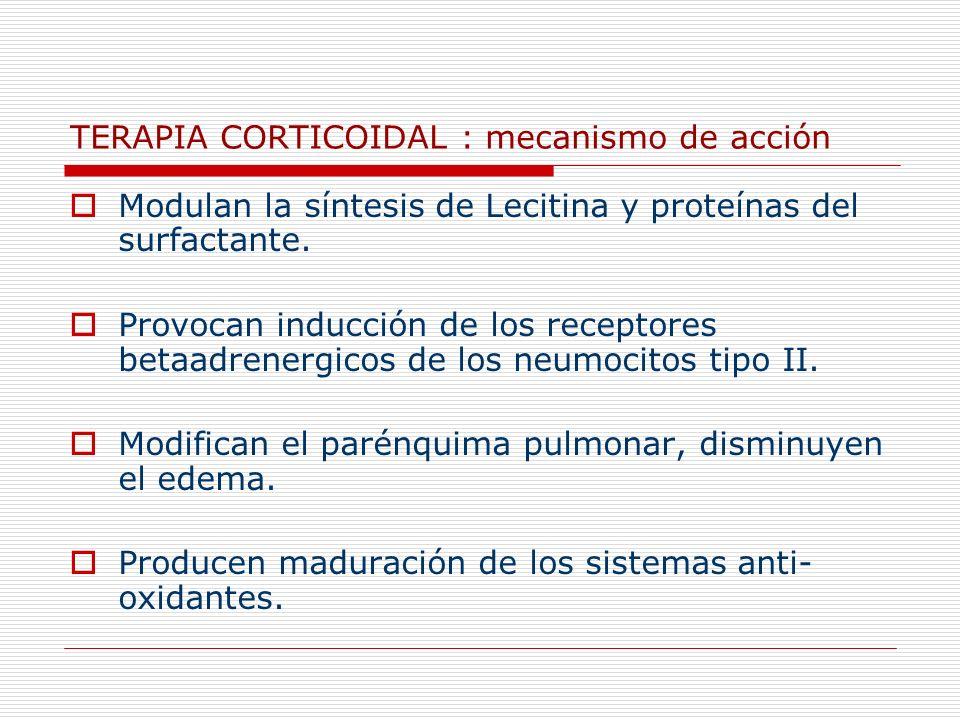 TERAPIA CORTICOIDAL : mecanismo de acción