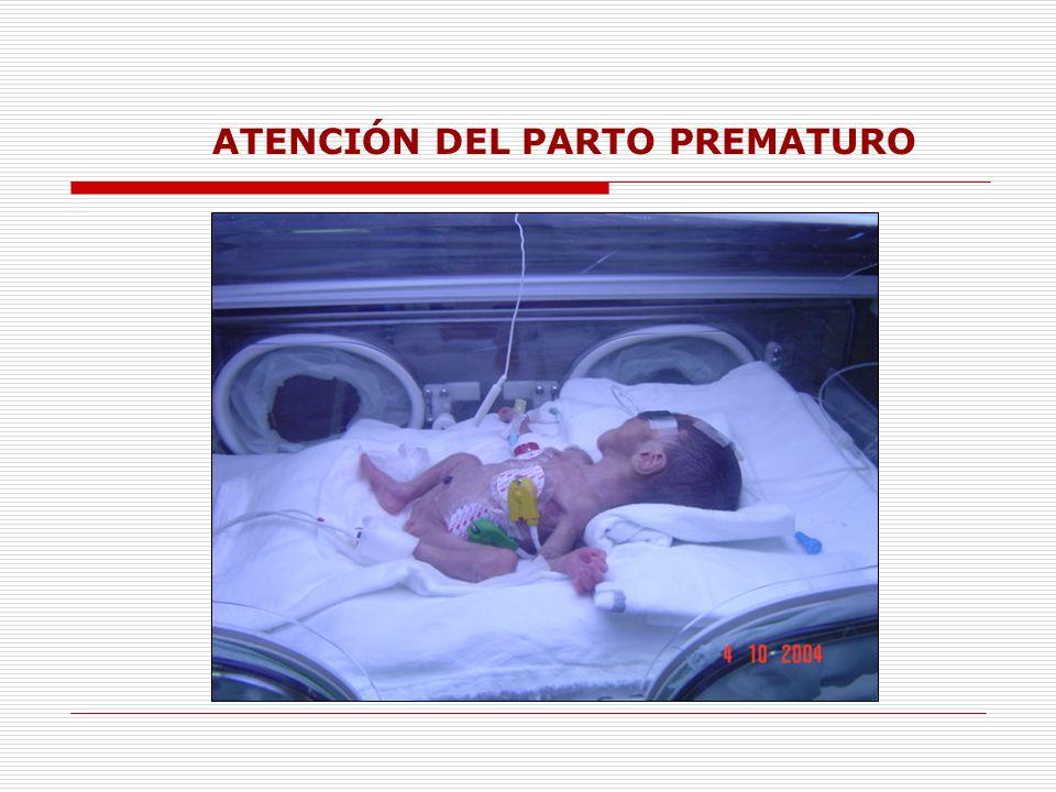 ATENCIÓN DEL PARTO PREMATURO