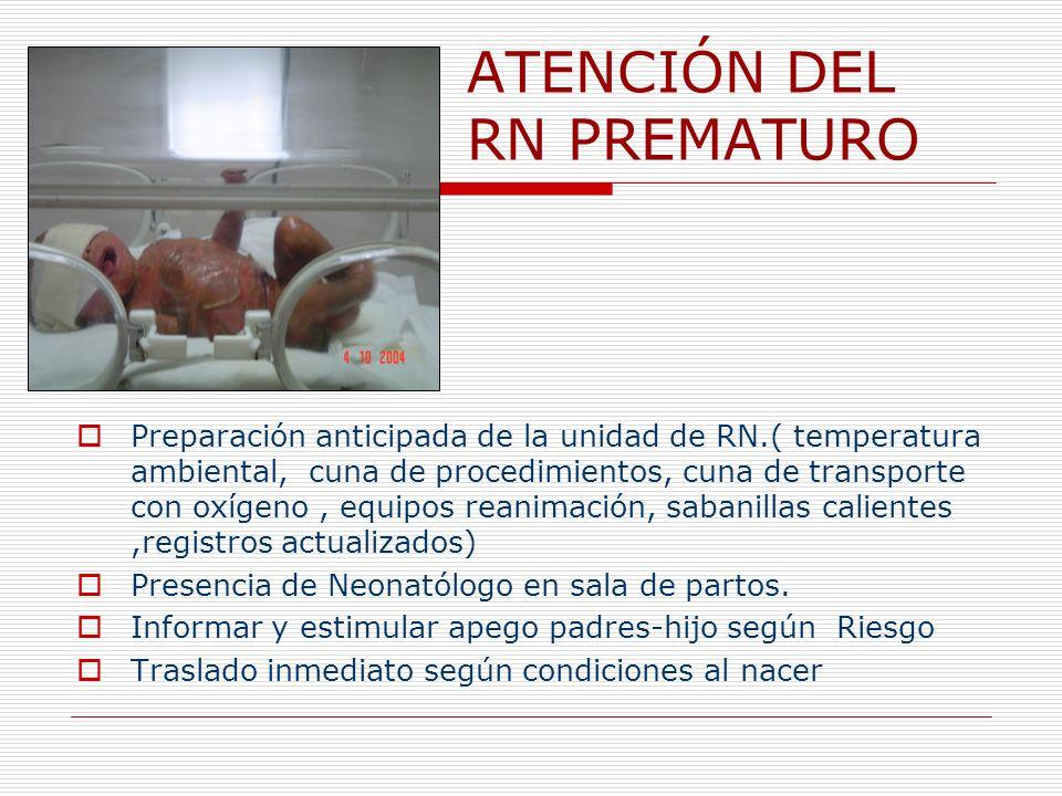 ATENCIÓN DEL RN PREMATURO