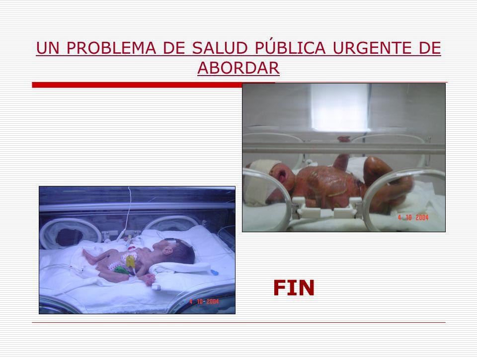 UN PROBLEMA DE SALUD PÚBLICA URGENTE DE ABORDAR