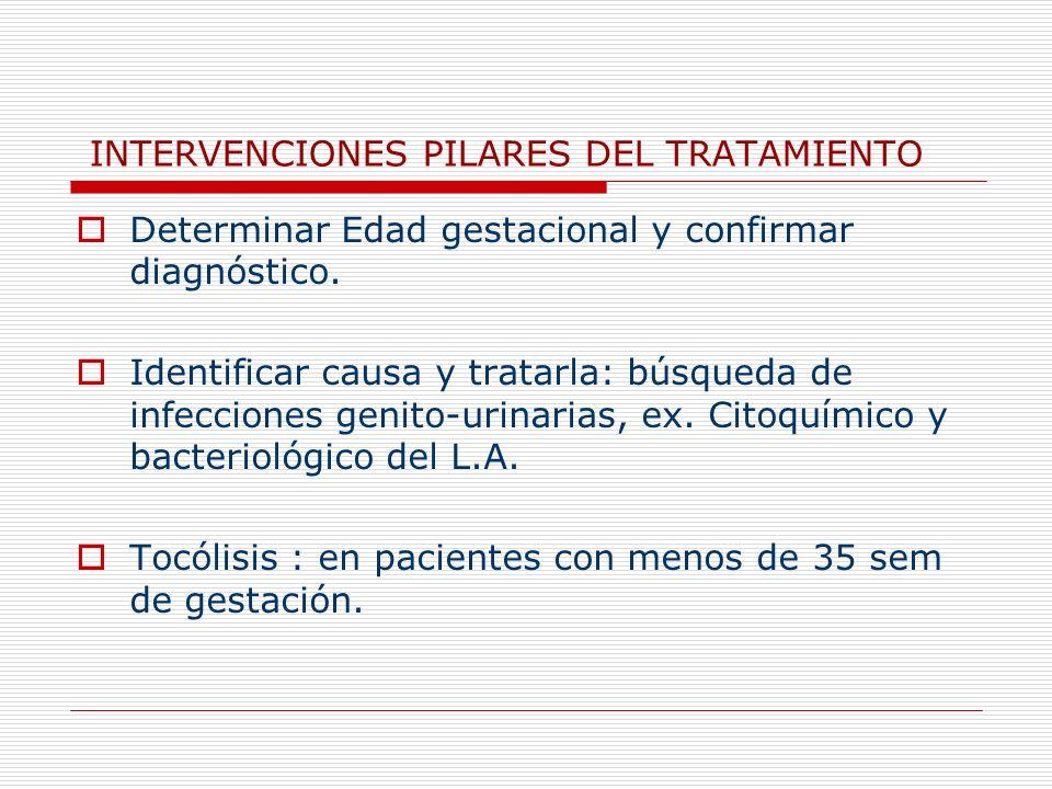 INTERVENCIONES PILARES DEL TRATAMIENTO