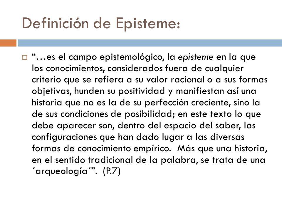 Definición de Episteme:
