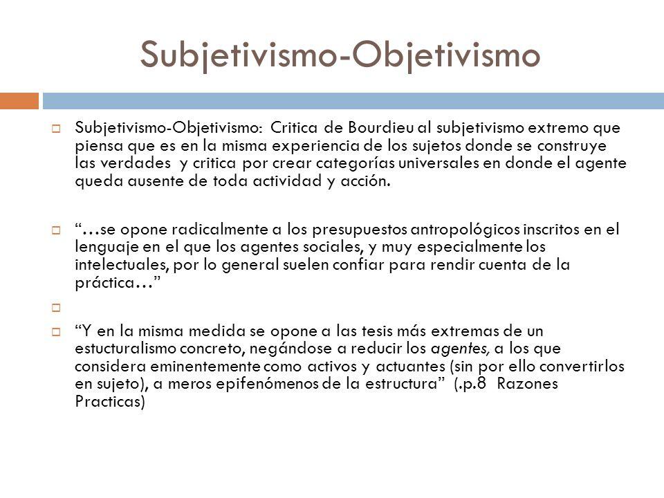 Subjetivismo-Objetivismo