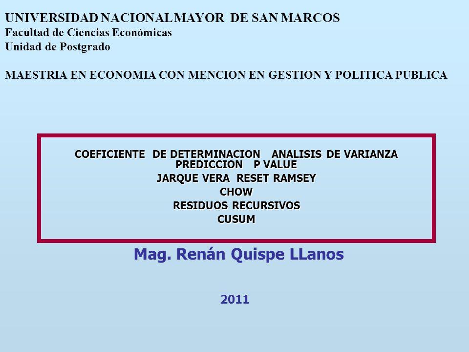 Mag. Renán Quispe LLanos