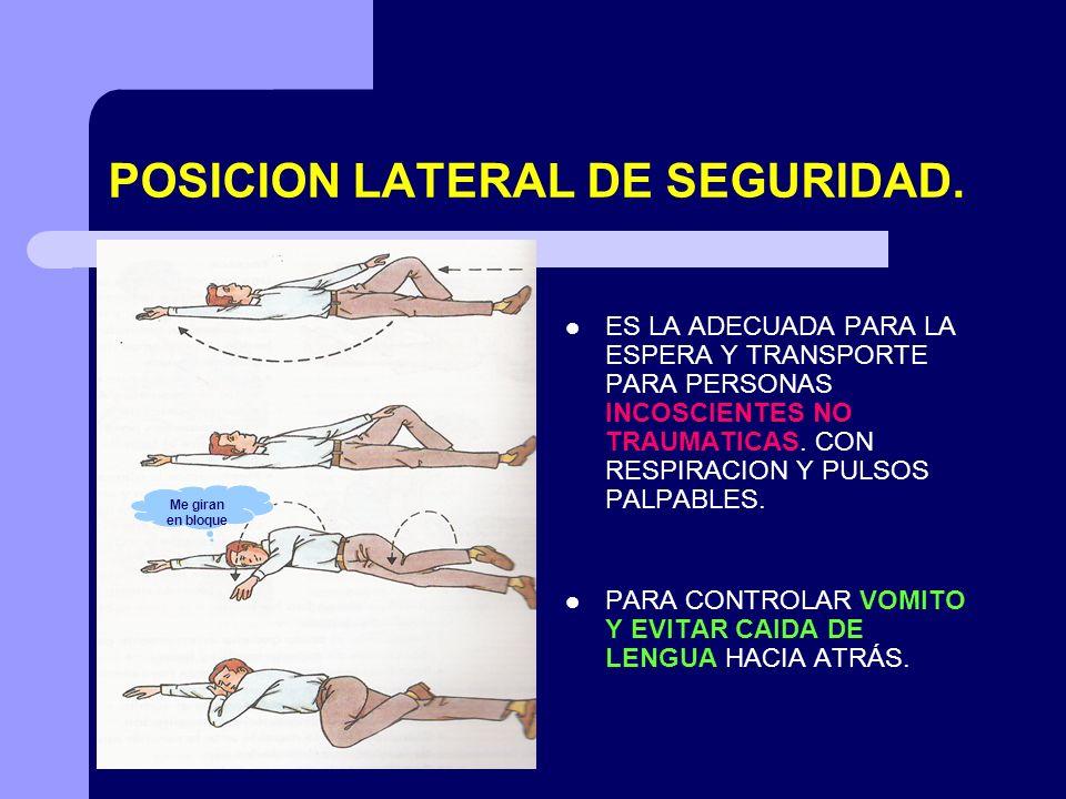 POSICION LATERAL DE SEGURIDAD.