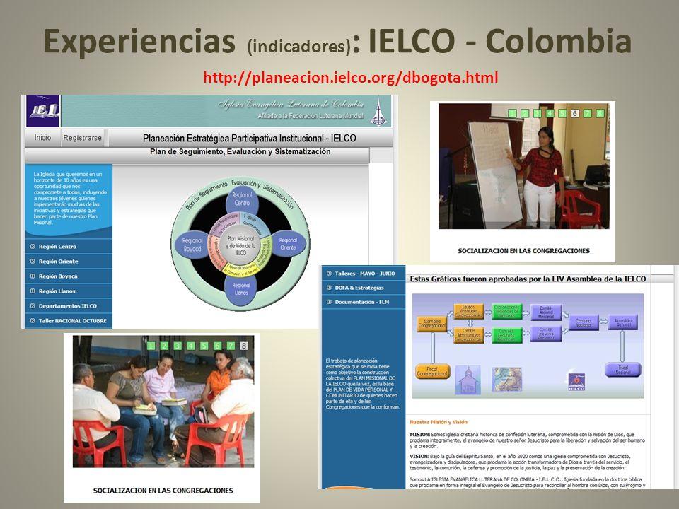 Experiencias (indicadores): IELCO - Colombia
