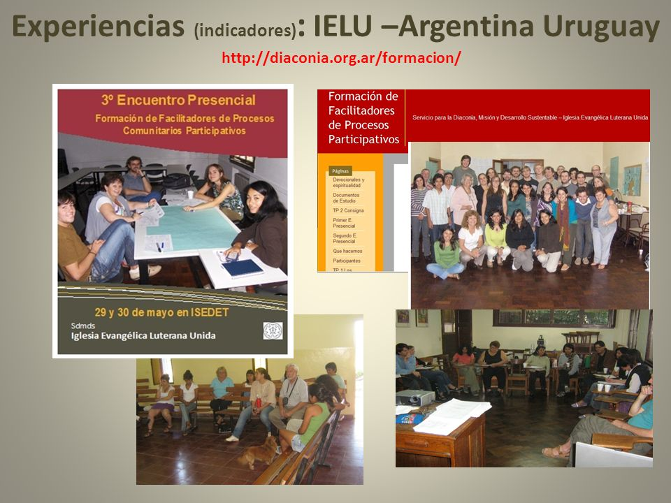 Experiencias (indicadores): IELU –Argentina Uruguay