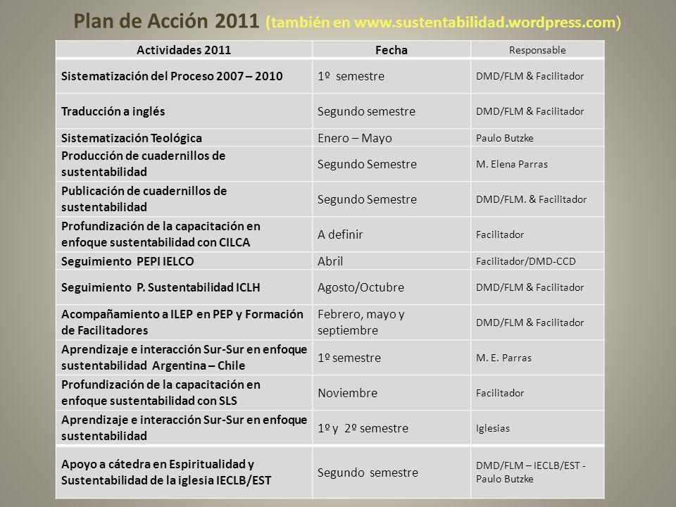 Plan de Acción 2011 (también en www.sustentabilidad.wordpress.com)
