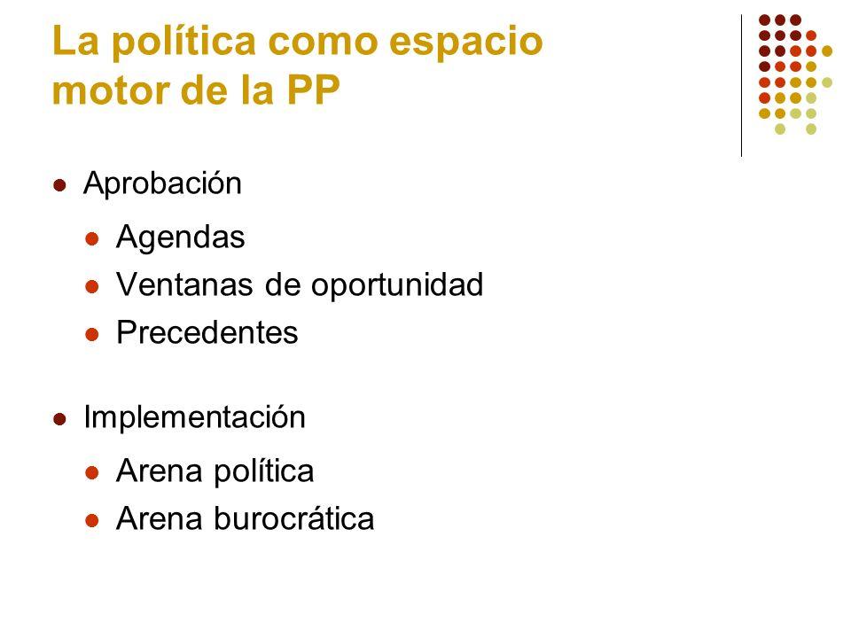 La política como espacio motor de la PP