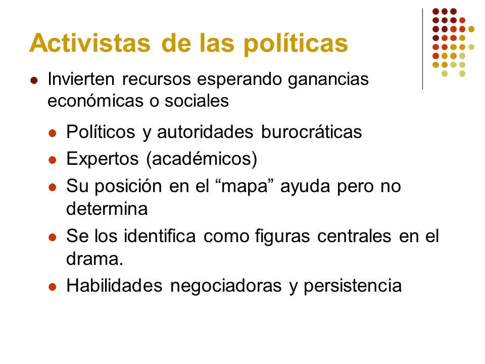 Activistas de las políticas