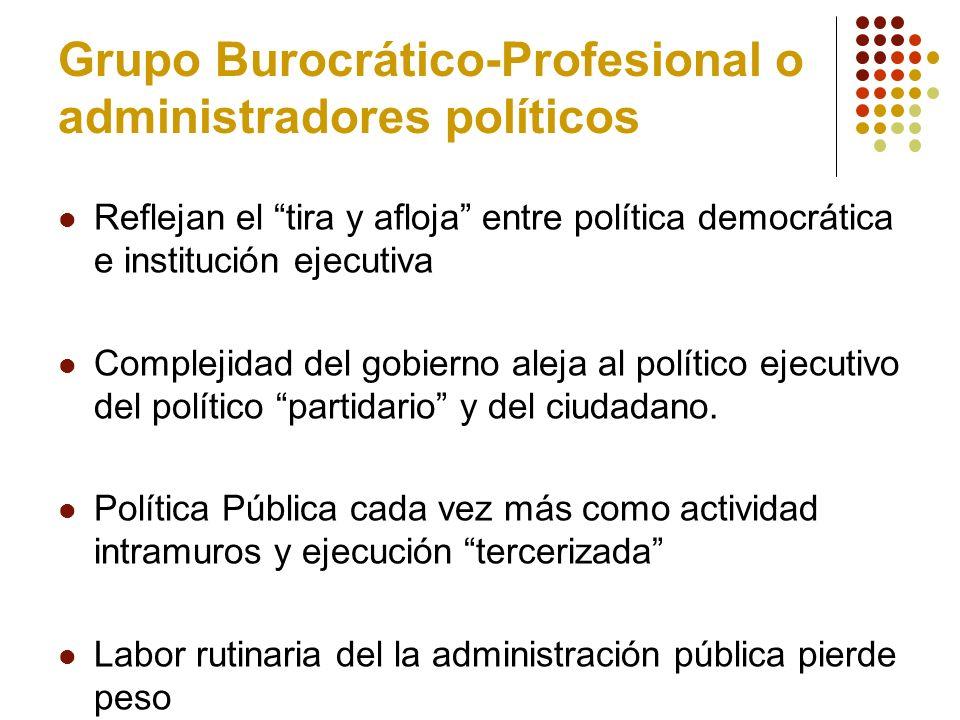 Grupo Burocrático-Profesional o administradores políticos