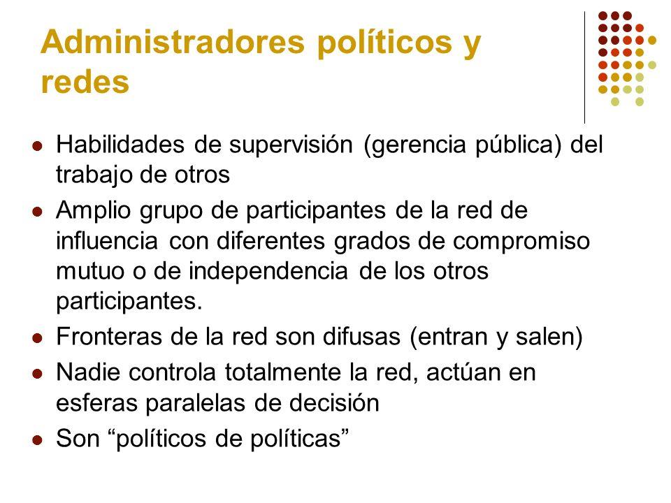 Administradores políticos y redes