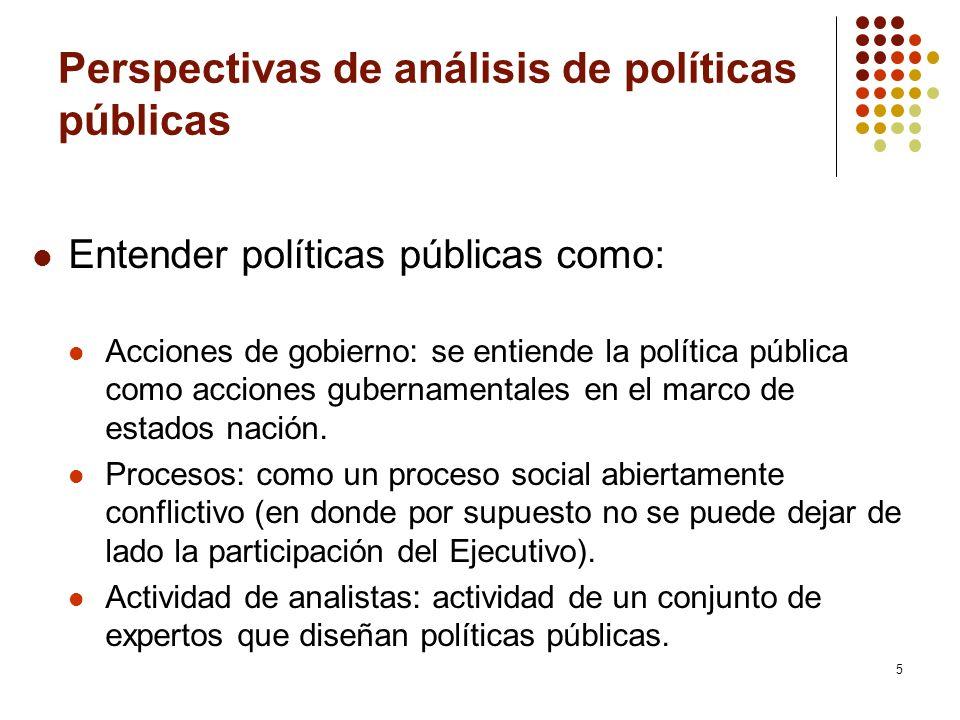 Perspectivas de análisis de políticas públicas