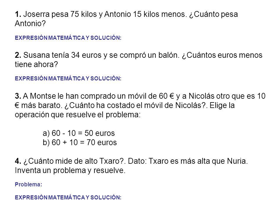 4. ¿Cuánto mide de alto Txaro . Dato: Txaro es más alta que Nuria.